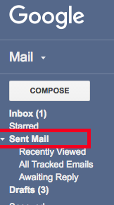 Gmail sent mail