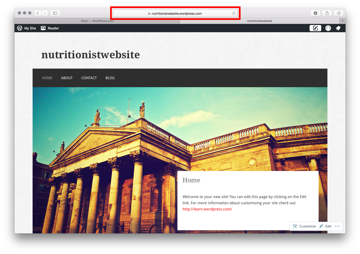 new website for nutritionists