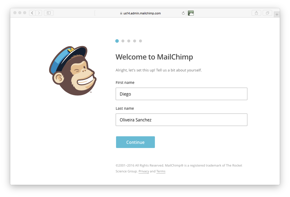 Name in Mailchimp