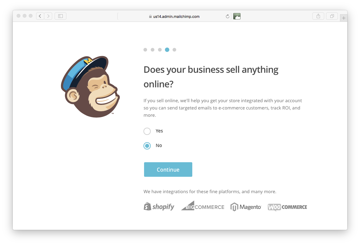 online selling Mailchimp