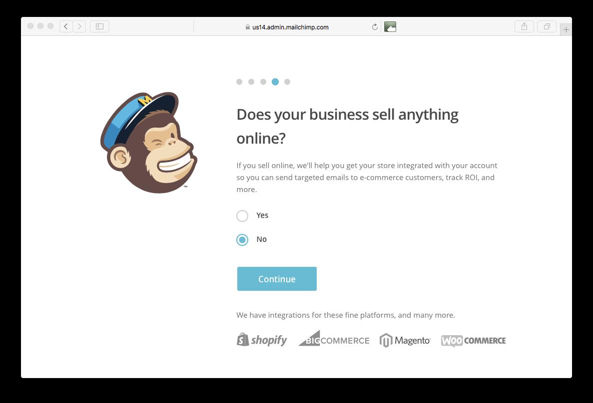 online selling Mailchimp
