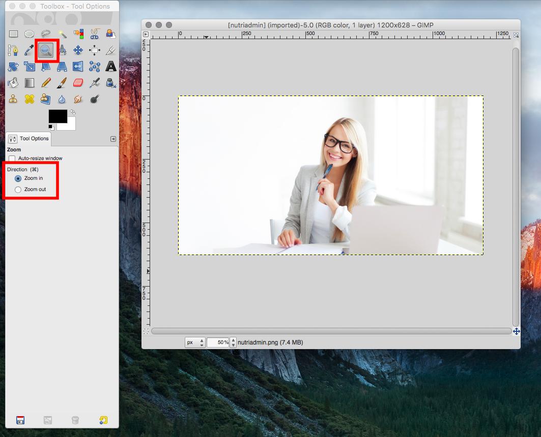 nutriadmin image editing